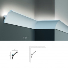 Полиуретановый потолочный карниз под подсветку Tesori KF 702