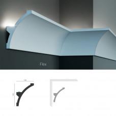 Полиуретановый потолочный карниз под подсветку Tesori KF 708