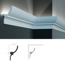 Полиуретановый потолочный карниз под подсветку Tesori KF 714
