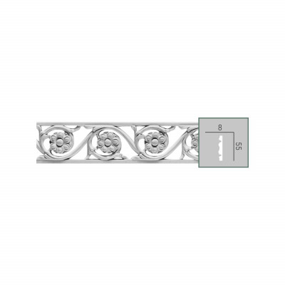 CR 3023 (2,00 м) (U) Молдинг с орнаментом