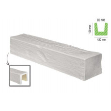 Декоративная балка ED 106 белая
