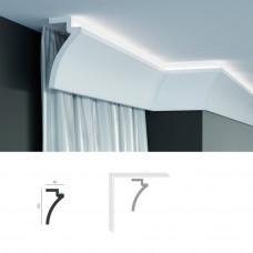 Полиуретановый шторный карниз под подсветку Tesori KF 801