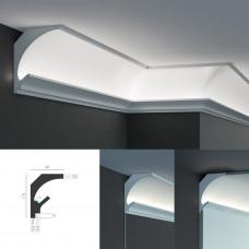 Tesori KD 204 - угловой потолочный карниз для подсветки